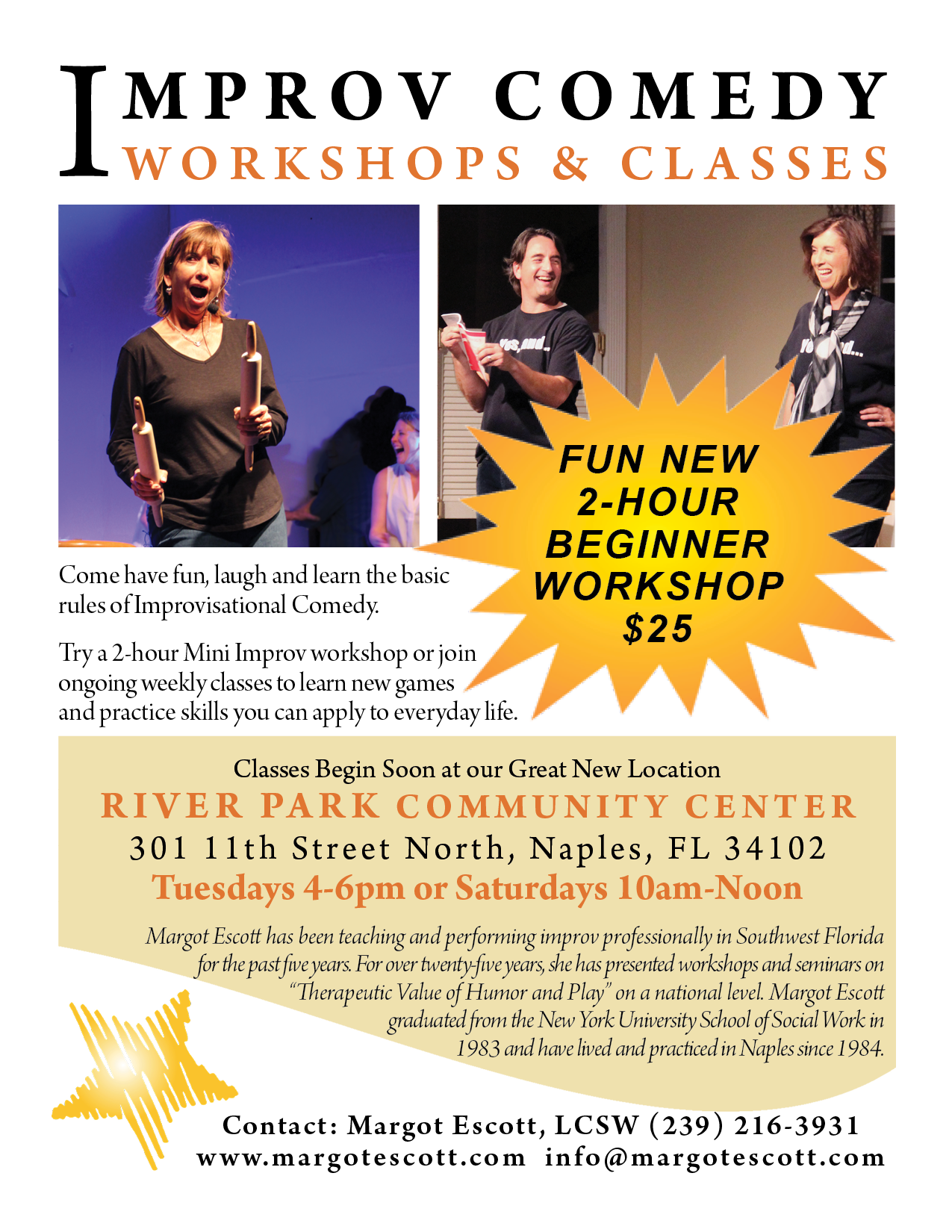 Improv Workshops and Classes for all Web