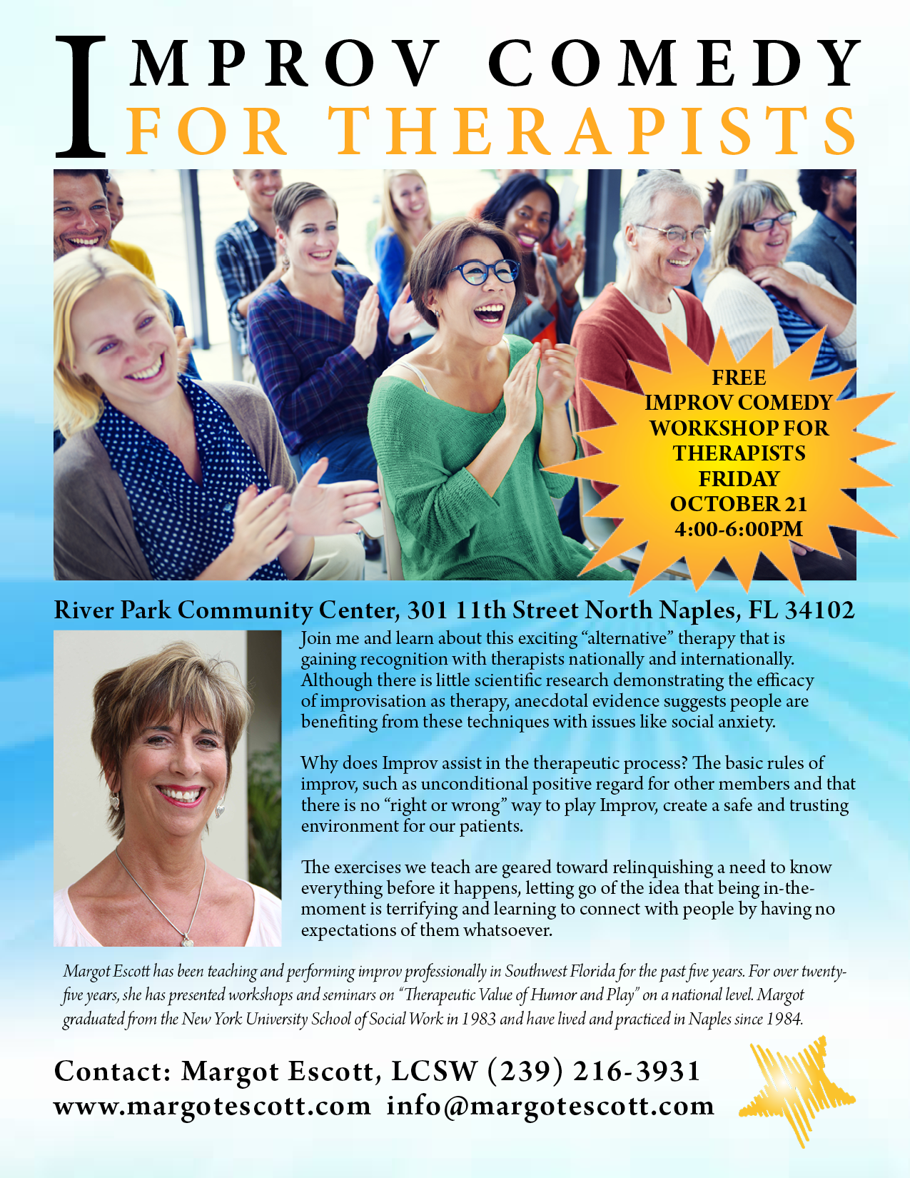 Improv for Therapists Workshop