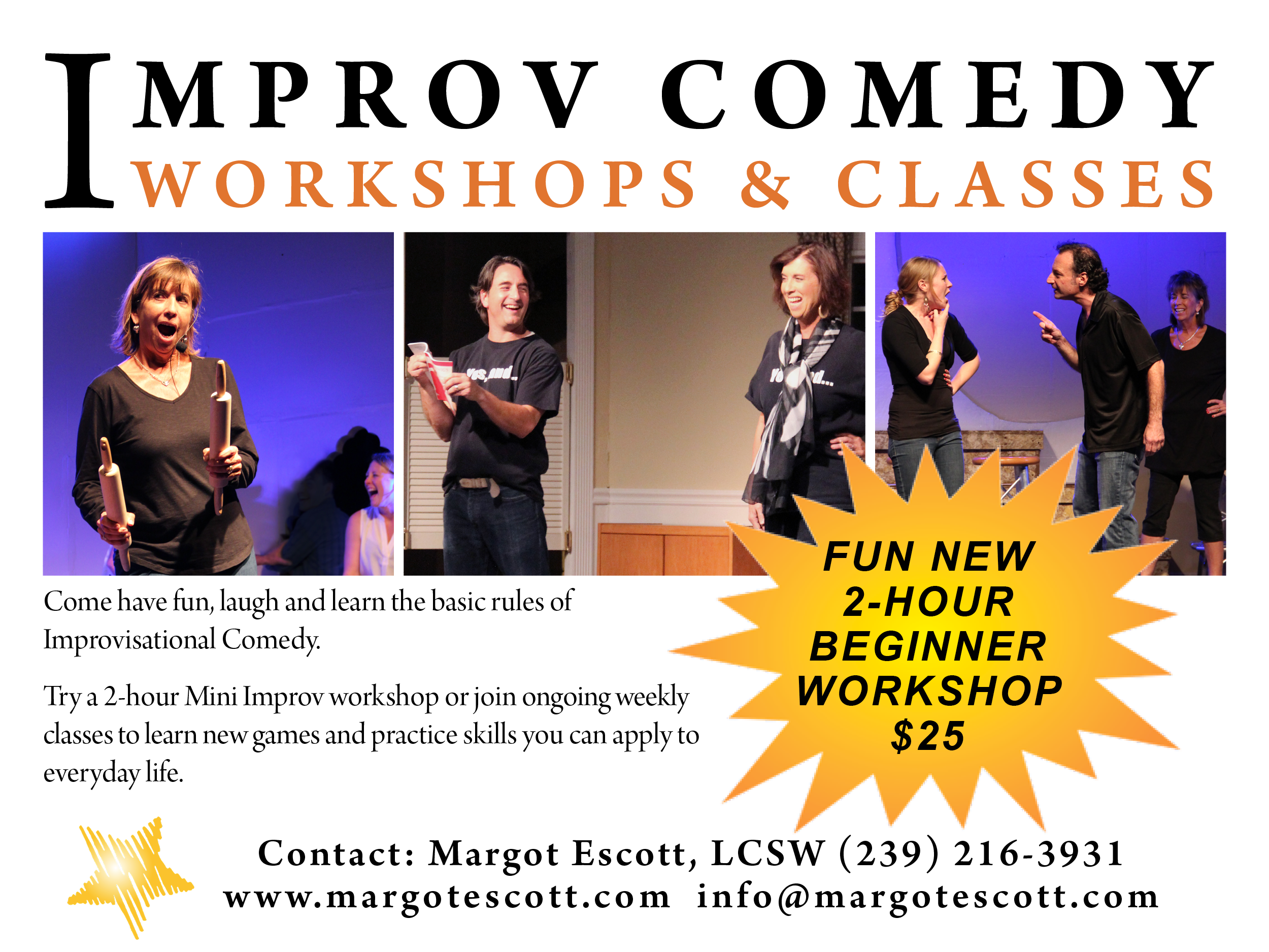 Improv Comedy Workshops and Classes and workshops